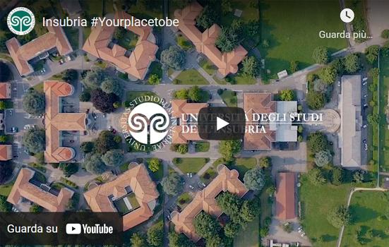 Edifici, prato e alberi visti dall'alto